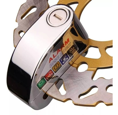 candado disco alarma moto accesorio seguro cadena llave ns