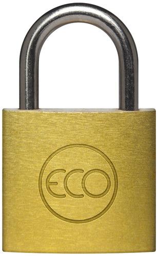 candado eco 20mm acero bronceado + 2 llaves