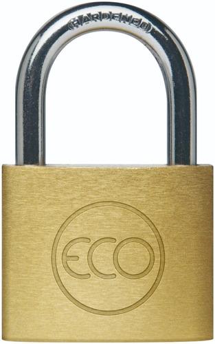 candado eco 50mm acero bronceado + 2 llaves