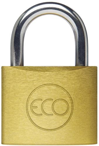 candado eco 60mm acero bronceado + 2 llaves