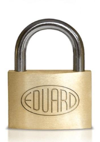 candado eduard 50 arco de acero + 3 llaves