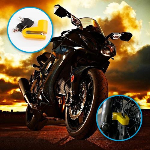candado freno de disco motos bicicletas + estuche! rf s97