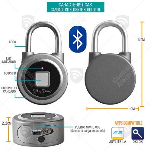 candado inteligente bluetooth huella digital seguridad casa