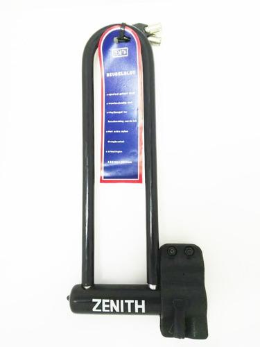 candado linga de seguridad p/bicicleta tipo u zenith