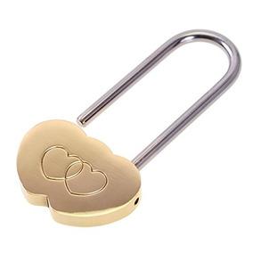 6364f43aae10 Candado Love Lock, 3.5 Cute Mini Engraved Double Heart Padl