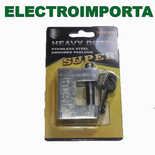 candado metálico de perno 60mm - electroimporta -