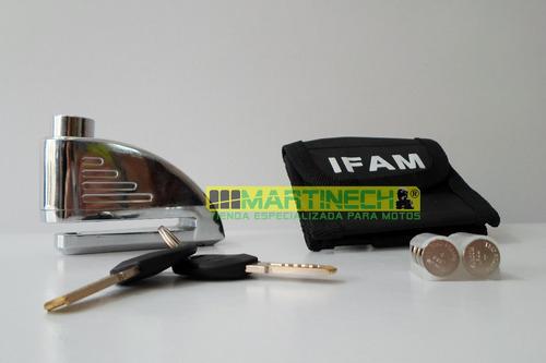candado moto alarma freno de disco ifam + obsequios