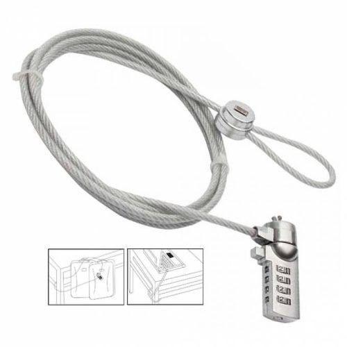 candado notebook clave acero seguridad / ekipofertas