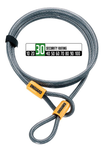 candado onguard akita 8044 - cable de seguridad