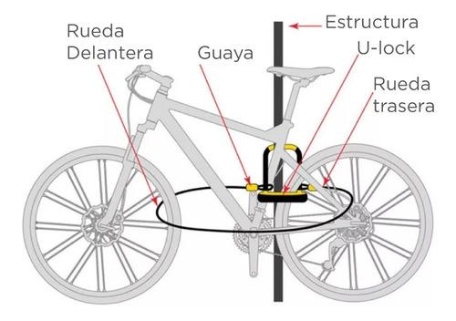 candado onguard terrier 8064 glo -bicicleta tipo cable