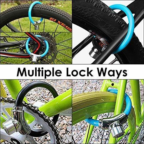 con 2 Llaves WOTOW de Acero Candado para Marco de Bicicleta antirrobo 12 mm Resistente al Agua