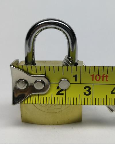 candado para maletas, lockers de 25 mm pequeño 3 llaves.