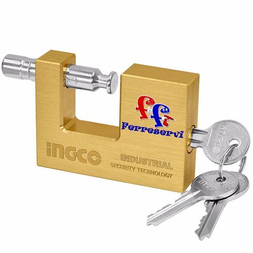 candado seguridad 70 mm rectangular ingco dbbpl0702 bronce