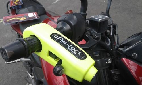 candado seguridad moto bloqueo de manija freno o acelerador