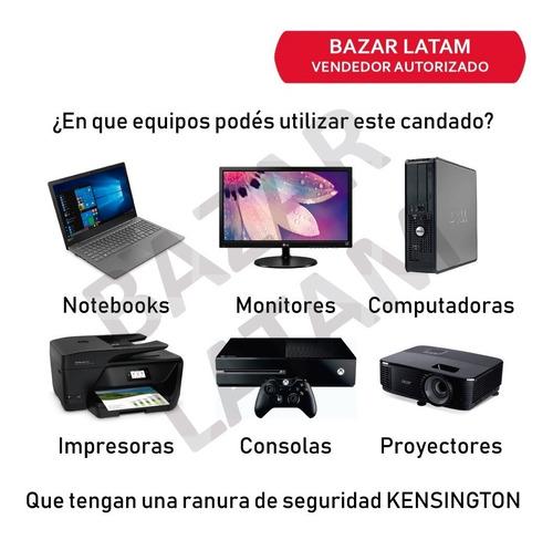 candado seguridad notebook monitor proyector consola aidata