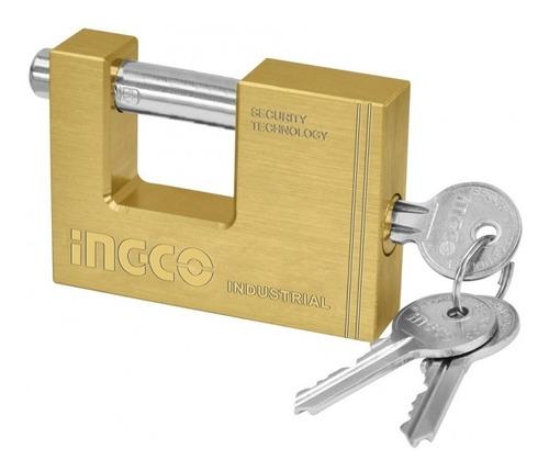 candado seguro antipalanca bronce 60mm ingco 3 llave dbbpl06