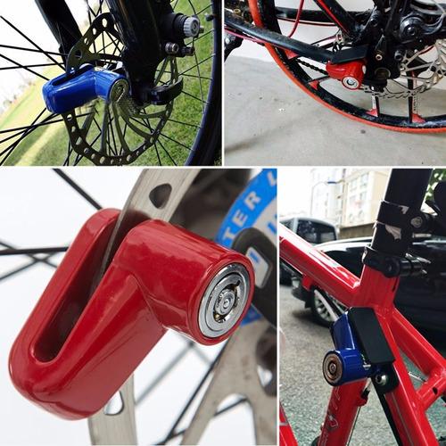 candado seguro antirrobo disco freno bloqueo moto bici lock