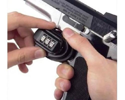candado seguro para gatillo de rifle pistola o escopeta comb
