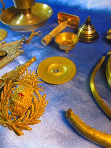 candelabro adorno bronce