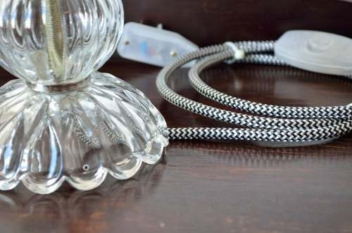 candelabro antiguo 1 luz caireles vidrio