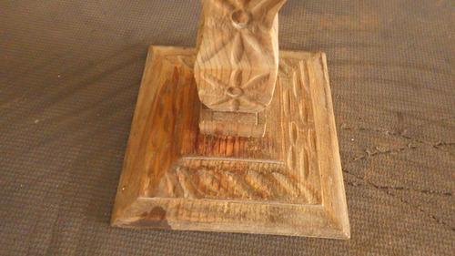 candelabro antiguo tallado en madera, labrado..