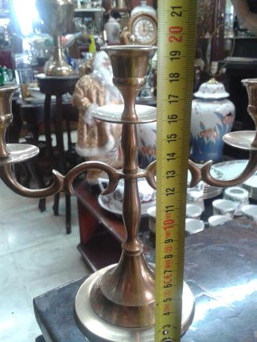 candelabro de 3 velas gravados liviano bronce precio x c/u