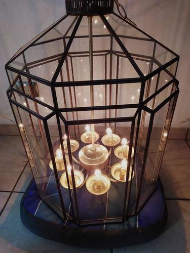 candelabro de cristal de 8 luces