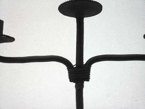 candelabro de ferro 30cm altura x 28cm largura