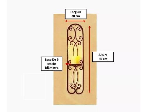 candelabro de ferro porta vela de ferro porta vela de parede
