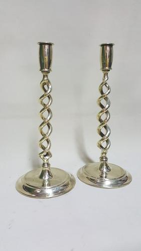 candelabro de mesa hindu en bronce macizo precio x c/u