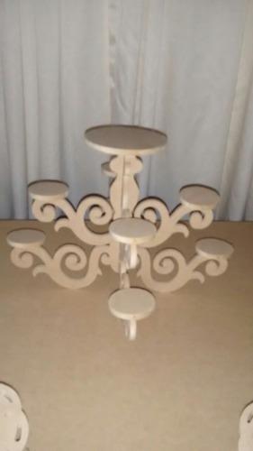 candelabro decoración mobiliario candy bar mdf crudo