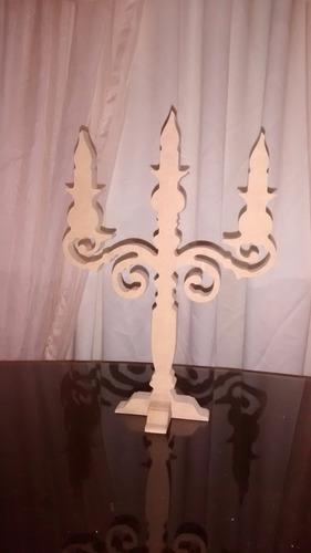 candelabro decorativo mobiliario candy bar mdf crudo
