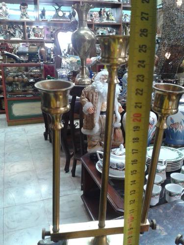 candelabro hindu de tres velas en bronce precio x c/u