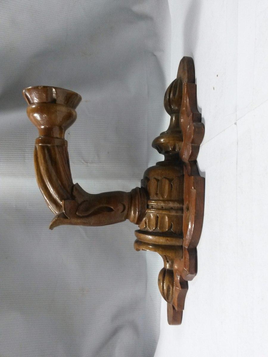 Candelabro pared madera aplique en mercado libre for Aplique pared madera