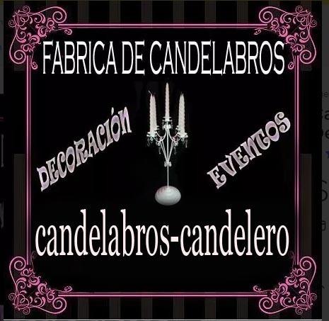 candelabro porta vela con caireles centro de mesa