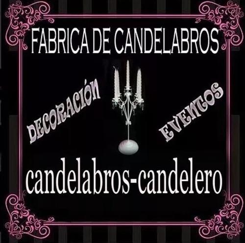 candelabro x 3 velas con caireles