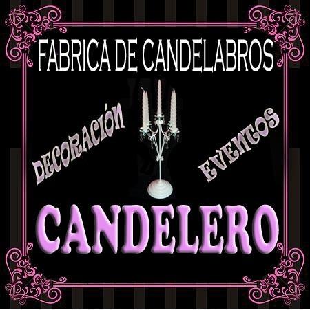 candelabro  x 5 velas con caireles