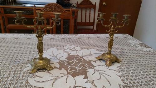 candelabros candeleros de bronce de finales del siglo 19