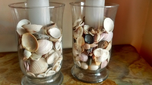 candelabros copones tipo marino, centro de mesa.