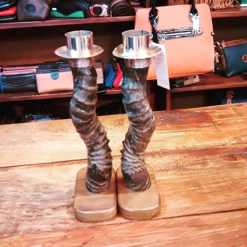 candelabros de cuerno