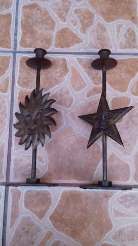 candelabros de metal 32.5 cms de alto ¡¡¡¡¡¡¡
