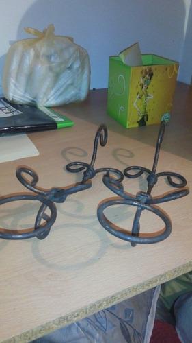 candelabros en hierro forjado