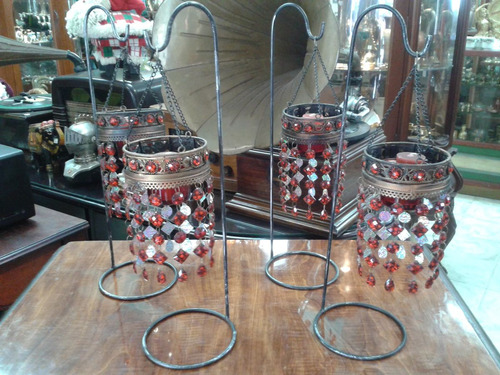 candelabros hindú de una vela colgante precio x c/u