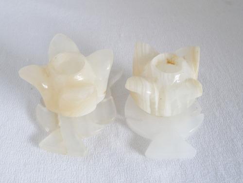 candelabros tallados en ónix / un par / méxico