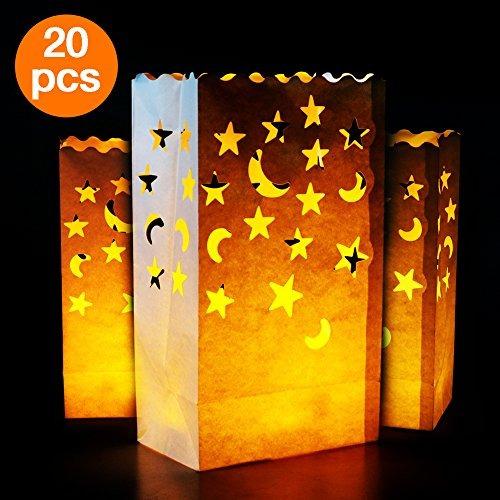 candelabros,ir luminary bolsas   20 pc estrellas y la lu..