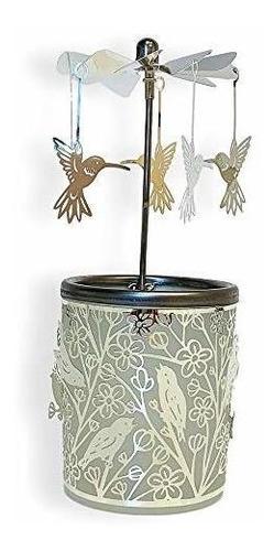 candelero giratorio - plata pajaro encantado girar el vidrio