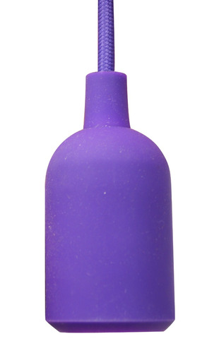 candil colgante decorativo colores e-26 luz foco 1m de largo