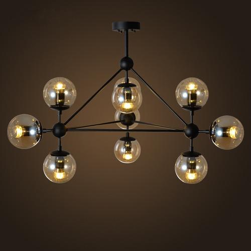 candil diseño nordico de 10 esferas