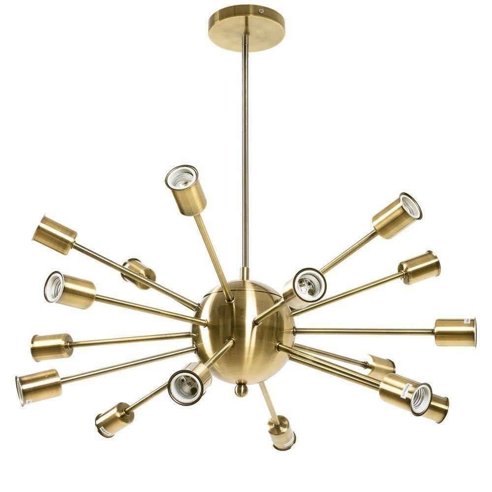 candil lampara de techo sputnik 18 luces dorado trend 2018