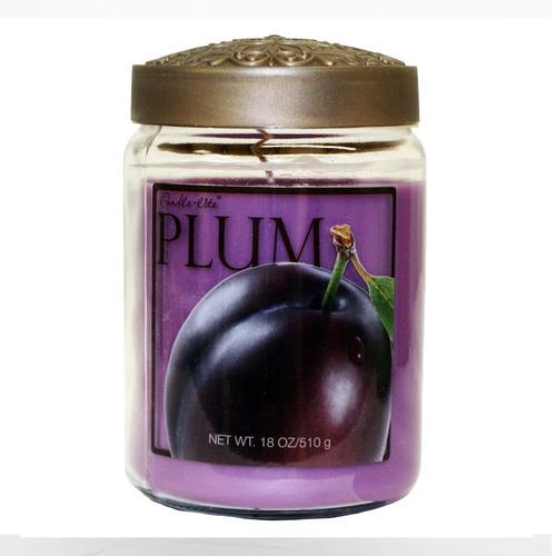 candle-lite candela aromática fresh fruit plum 18oz - barulu